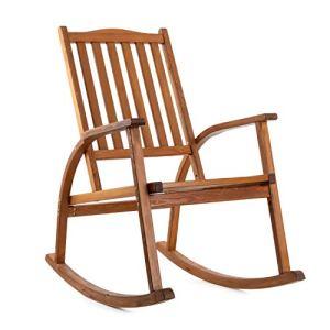 Ampel 24 – Chaise à Bascule en Bois Texas / 60,5 x 109 x 113 cm/en mélèze/Couleur Marron
