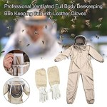 Apicole Costume Équipement De Protection, Combinaison Apicole, Combinaison D'apiculteur Professionnelle Avec Voile Autoportant,Professionnel Anti Abeille,Kit Apicole Professionnel Corps Entier Ventilé