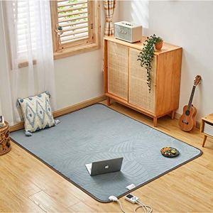 AREA Grand Coussin Chauffant, Tapis électrique de Salon de ménage, Tapis électrique de Yoga sûr et économe en énergie avec Thermostat et minuterie