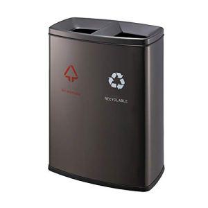 Bacs à ordures Les poubelles en acier inoxydable de la poubelle en acier inoxydable peuvent doubler la barillet de grande poubelle pour une utilisation intérieure/extérieure Déchets et recyclage