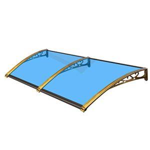 Balancelles avec auvent en Alliage d'aluminium Auvent, Polycarbonate Porte Canopy, cambrés Porte Auvents Abri Avant Porche extérieur Ombre Patio Toit Couverture Protection UV