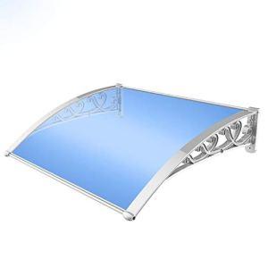 Balancelles avec auvent Porte fenêtre Auvent Auvent Avant/arrière Porte de la véranda arquéesLes Auvent – Installation Facile – Extensible (Size : 100 * 150cm)