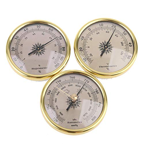 BAWAQAF Baromètre, thermomètre, hygromètre, baromètre 3 en 1, thermomètre manomètre, baromètre à cadran 72 mm, baromètre mural