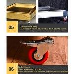 Birdcage Perroquet d'acier inoxydable de luxe à sept étagères en forme d'acier inoxydable amortissable de grande et moyenne taille perroquette avec frein perroquet étagère oiseau fourniment cage d'ois
