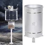 BWLZSP Pluviomètre Seau pluviomètre, capteur de Pluie en Acier Inoxydable Simple Seau basculant pluviomètre Mesure de la Pluie Outil de Surveillance