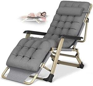 Chaise longue de jardin, Chaise inclinée Chaise longue Chaise de jardin Chaises de jardin Deck Pliage Pliage Pliante Pliante Zero Gravity Chair extérieur Capacité de charge 150 kg, chaise inclinée por