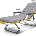 Chaise longue de jardin, Chaises de jardin de soleil en métal jaune rayon de soleil pliant chaise inclinée rembourrée Jardin Chaises de relaxeuse de relaxante avec repose-dos réglable et repose-jambes