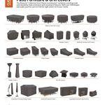 Classic Accessories Housse pour Parasol Chauffant Pyramidal, Ravenna, Dark Taupe/Mushroom/Espresso, M