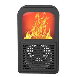 Cmstop Réchauffeur de Flamme créatif 3D à économie d'énergie Portable à Faible Bruit Chauffage Rapide à air Chaud réchauffeur électrique pour Bureau Bureau Maison