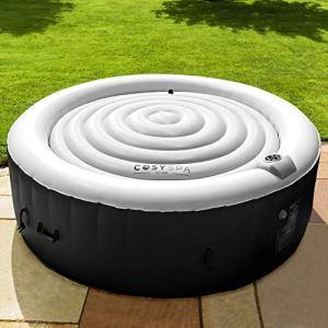 CosySpa Couvercle Gonflable Rond pour Jacuzzi Spa Couverture Gonflable Luxe | Tapis Protection Spa | Deux Tailles Disponibles (1,4 m de diamètre, Noir)