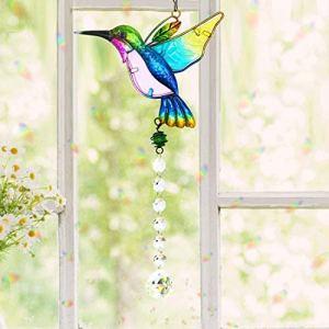 Cristal Suncatcher Colibri Pendentif Suspendu Lustre Prisme Arc-en-Ciel Fabricant Ornement pour Fenêtre Sun Catcher Maison Jardin Décoration