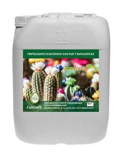 CULTIVERS Cutivers Organic Liquid Engrais Cactus et Crases 20 L – Croissance Saine avec Une Floraison Plus Élevée – Plantes Plus Résistantes aux Maladies – Engrais 100% Organique et Naturel