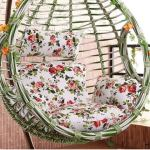 DACHENGJIN Meubles de Jardin Cour Hanging Panier Chaise Rocking Chair éponge Balançoire Coussin de siège, Taille: 140x105x10cm (Rose) (Color : Green)