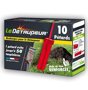 DETAUPEUR |Anti Taupes et Rats Taupiers | Une Puissance suffisante pour éliminer Tous Types de Taupes ou Rats taupiers (RECHARGEX10)