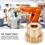 Engrenage en laiton, engrenage pratique stable de 20 dents pour les pièces industrielles de robot industriel