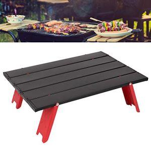 Eulbevoli Table de Camping, Bureau de Camping Pliable Anti-déchirure avec Sac de Rangement pour Barbecue pour Pique-Nique pour randonnée