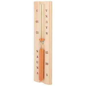 Evonecy Horloge de Sauna, sablier de Sauna décoratif en Bois de 15 Minutes précis pour Sauna