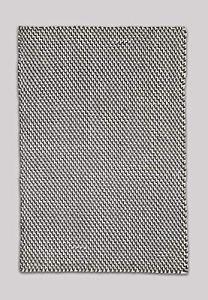 FAB HAB – Tapis en Polyéthylène recyclé (Fibres Polyester) pour intérieur/extérieur – Asbury – Charcoal & White(240 cm x 300 cm)