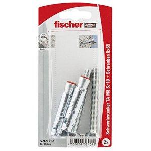 Fischer 52409 Lot de 2 Boulons à expansion TA M8 S/10 K