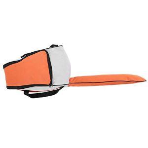Focket Sac de Rangement pour tronçonneuse, Tissu Oxford épaissi résistant à l'abrasion portatif Sac de Transport pour Sac de Transport Tondeuse à Gazon Étui de Protection Boîte de Protection(Orange)