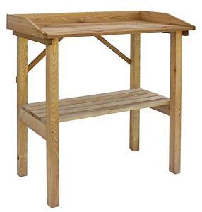 Gartenpirat Table Jardinage rempotage Bois Marron 79x38x83 cm étagère Rangement