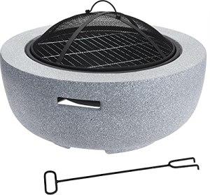 Grand brasero d'extérieur et barbecue 60 cm