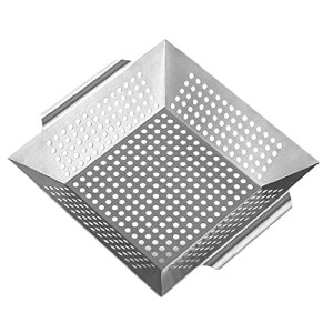 Grill Panier En Acier Inoxydable Barbecue Grill Pan Grand Légumes Plateau Barbecue Outils Plateau Barbecue Argent