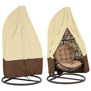 Housse de Fauteuil Oeuf Suspendu Jardin Oxford 420D Couverture de Protection Chaise Suspendu Imperméable Anti-UV pour Jardin Patio (420D)