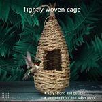 Humming Bird Houses for Outside Hanging Natural Grass Hanging Bird Hut Hand Woven Hummingbird Nest