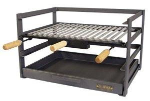IMEX EL ZORRO 71477.0tiroir Barbecue avec Grille, Noir, 46x 41x 35cm