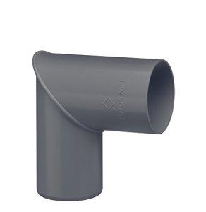 INEFA Arc DN 50, 87°, plastique gris anthracite, gouttière de pluie, gouttière de toit gris anthracite DN 50 | 10 pièces
