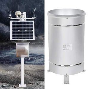 KAKAKE Pluviomètre Capteur de pluviomètre tournant Plus Sensible à Haute sensibilité avec Une Bulle d'ajustement de Niveau