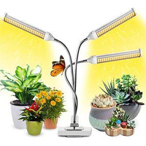 Lampe pour Plantes Interieur, 2021 Nouvelle Garpsen 315 LEDs Lampe LED Horticole, Chronométrage AUTO – ON/OFF, 3 Heads Spectre Complet Lampe de Croissance pour Semis, Succulentes, Orchidee