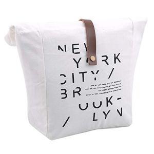 LIGHTBLUE Sac d'isolation de boîte à lunch simple lettre Petit sac en tissu polyvalent,Lettre créative