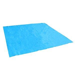 Linxor France ® Tapis de sol et de protection bleu pour piscine – 5 tailles disponibles – Norme CE
