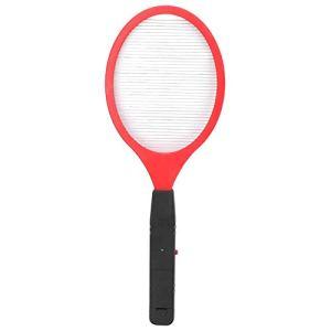 Longzhuo Électrique Fly Moustique Swatter Batterie sans Fil Électrique Bug Zapper Raquette Insectes Tueur(Rouge)