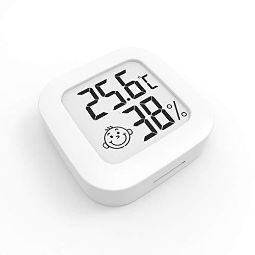 Mini Thermomètre Hygromètre Intérieur Digital à Haute Précision, Moniteur de Température et Humidimètre, Thermo Hygromètre Indicateur du Niveau de Confort