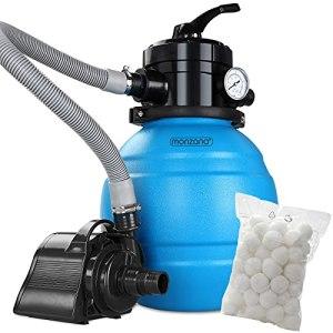 Monzana MZPP05 Filtre à Sable 4,5 m³/h Valve 4 Voies avec balles filtrantes 320 g