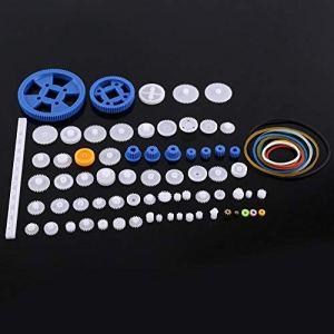 Mugast Engrenages en Plastique, kit de vitesse de trousse de poulie portative et durable, voiture de jouet en plastique, robot six kits différents(80 sortes)