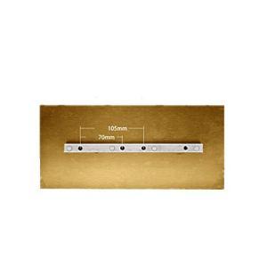 MXBAOHENG Lot de 4 lames de truelle à béton avec lame combinée pour la truelle et la truelle (320 x 150 mm) Doré trempé 2,2 mm