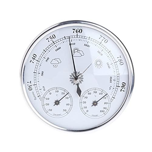 NFRADFM Baromètre, thermomètre, hygromètre, baromètre 3 en 1, baromètre à fixation murale, thermomètre à suspendre à la station météo