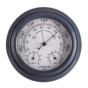 NFRADFM Baromètre, thermomètre, hygromètre, baromètre 3 en 1, station météo murale à cadran numérique, thermomètre hygromètre