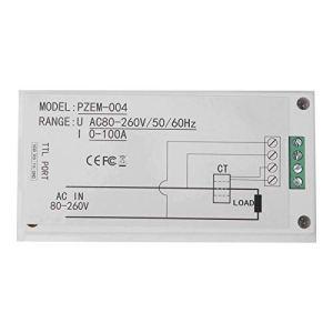 Okuyonic Power Monitor AC LED Digital Tube pour Bureau pour l'industrie avec Tension de Travail 80-260VAC(PZEM0-004 (Main Board + Coil Type Transformer))