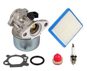 OuyFilters 799868 Kit carburateur avec poire d'amorçage et filtre à air 491588 – pour moteurs Briggs & Stratton 4 à 7 CV -Remplace 498170, 497586, 497314