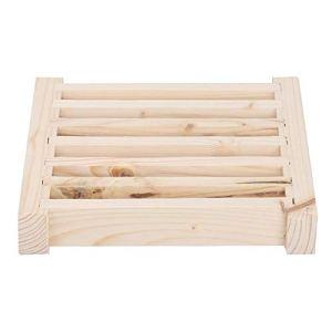 Panneau de grille de ventilation multifonctionnel de sortie d'évent en bois de ventilation, persiennes de sauna, évent mural pour salle de sauna hammam SPA maison