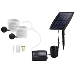 Pompe à air solaire Kit eau air sol Insertion pompe oxygénateur solaire Aérateur avec l'oxygène de l'air Tuyaux Pierre pour étang Fish Tank Garden