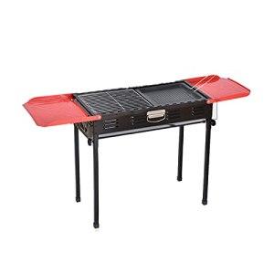 PSY Grille de barbecue en acier inoxydable avec support, pliable et portable pour l'extérieur – Sans fumée