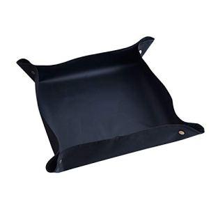 QPY Tapis de rempotage pour plantes, carré, portable, tapis de jardinage d'intérieur, pliable, bâche imperméable noire
