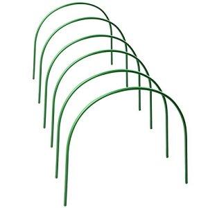Redsa Lot de 6 arceaux de serre en acier avec revêtement en plastique antirouille pour serre de jardin 120 x 48 x 48 cm