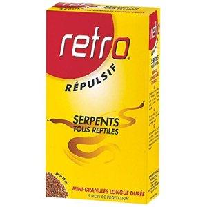 Retro RESER4 RÉPULSIF Serpents Mini-GRANULÉS, Rouge,Jaune